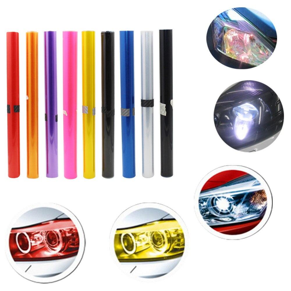 30 cm x 120 cm Auto Car Sticker Smoke Fog Light Headlight Taillight Tint Vinyl Film Sheet Car Decoration Decals Free Shipping