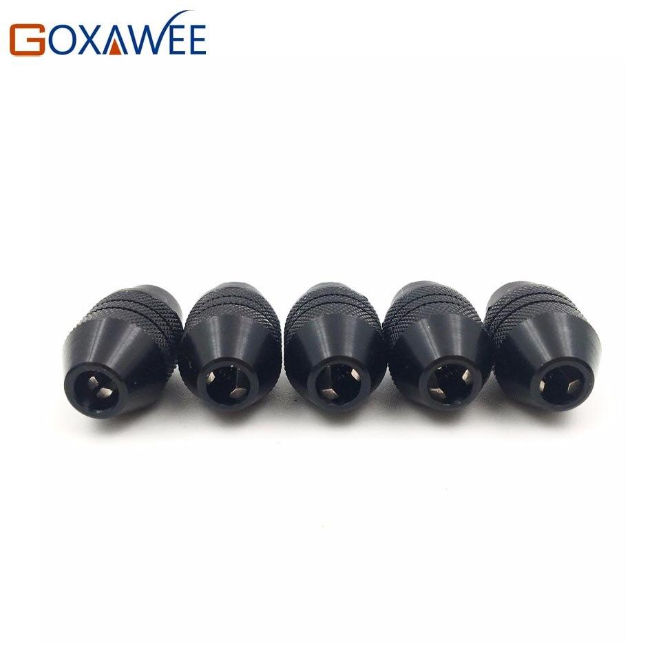 Goxawee mini mandril de broca para acessórios rotativos da ferramenta elétrica dremel haste 0.3-3.2mm pinça de broca 8*0.75mm para o mandril de broca do eixo