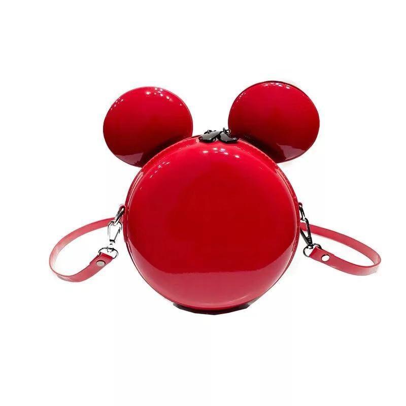 Fashion Design Women Mickey Shaped Bag Cute Funny Evening Clutch Purse Chain Shoulder for Birthday Gift E123
