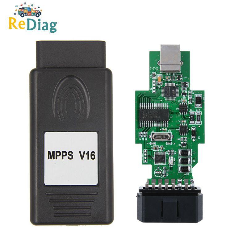 10 unids/lote MPPS V16 2020 professionnel con Chip ECU ajuste MPPS V16 cable para EDC15 EDC16 EDC17 Inkl de comprobación puede Flasher Remapper