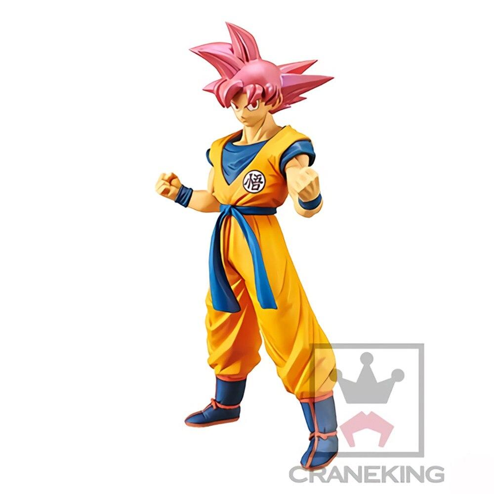 Аниме фигурки Dragon Ball Z Son Goku Супер Saiyan красные волосы игрушки SSJ кукла модель Фигурка коллектор Figma Juguetes