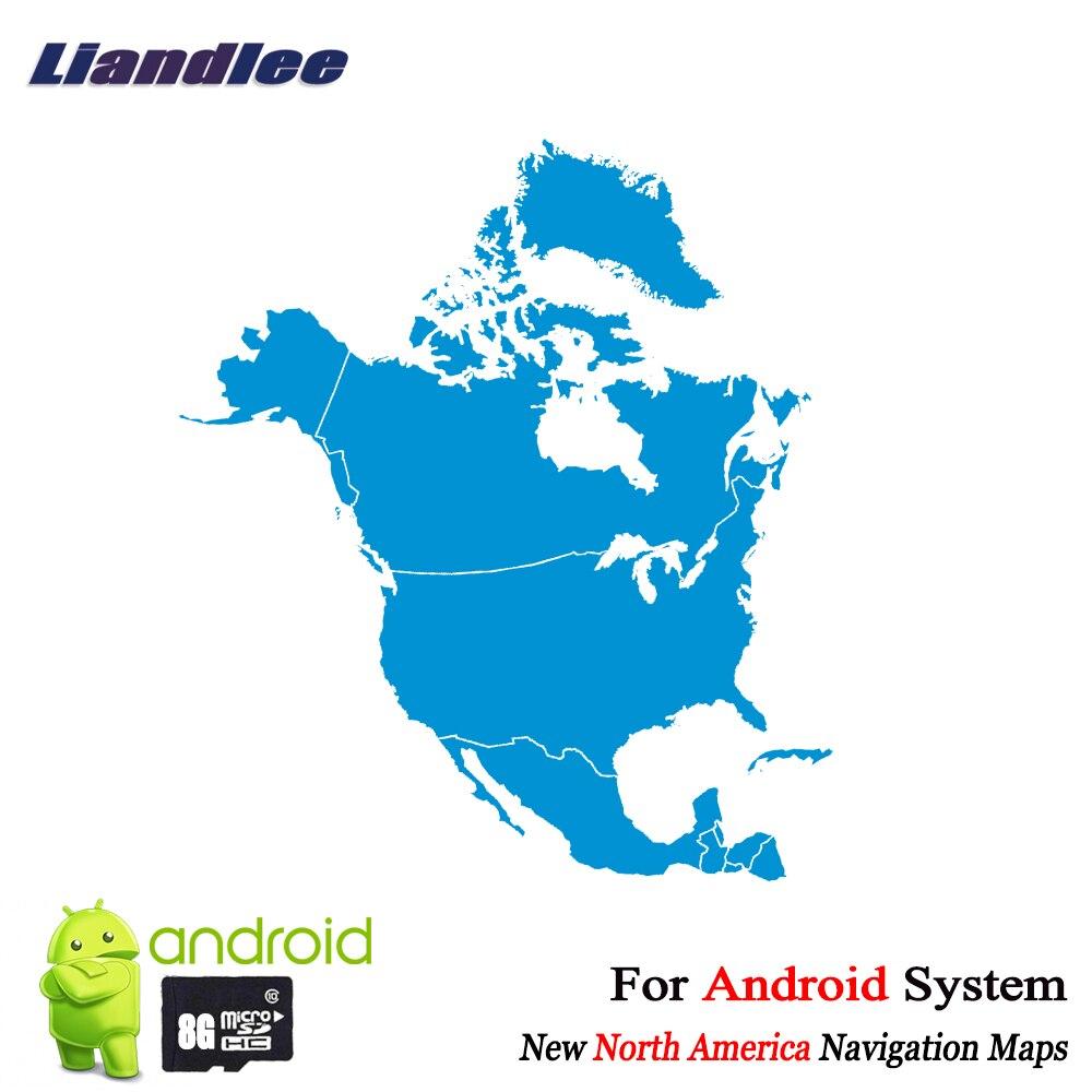 Liandlee 8 gb cartão sd mapas de navegação gps cartão android para américa do norte canadá estados unidos panamá costa rica méxico jamaica