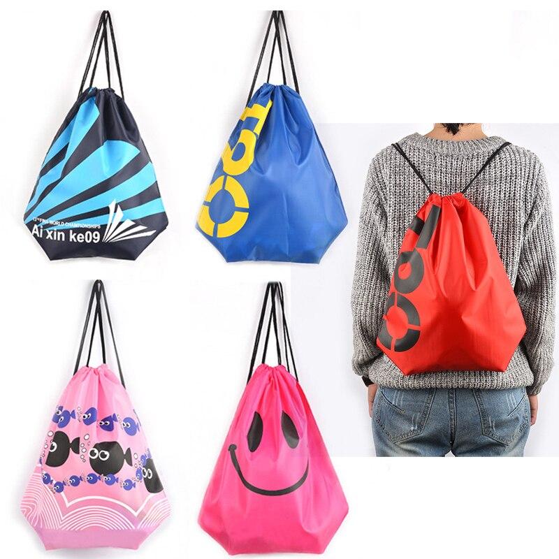 Bolsa natación impermeable mochilas doble capa bolsa de deporte con cordón bolsas de hombro deportes acuáticos bolsa de viaje portátil para cosas