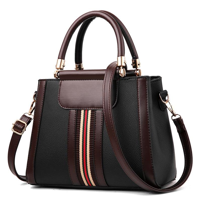 Bolso de mano Vintage para mujer, nuevo diseño, bolso de mano blanco y RAYA ROJA, bolso de hombro para mujer, bolso de piel sintética de alta calidad
