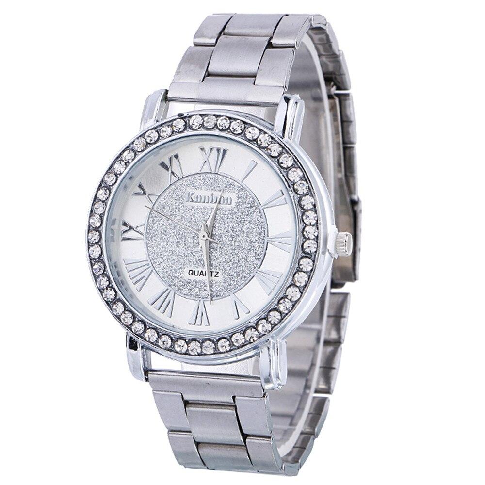 De diamantes de lujo acero inoxidable de deporte de pulsera de cuarzo hora Dial reloj mujer hombres collar de reloj de pulsera los hombres de acero inoxidable P30