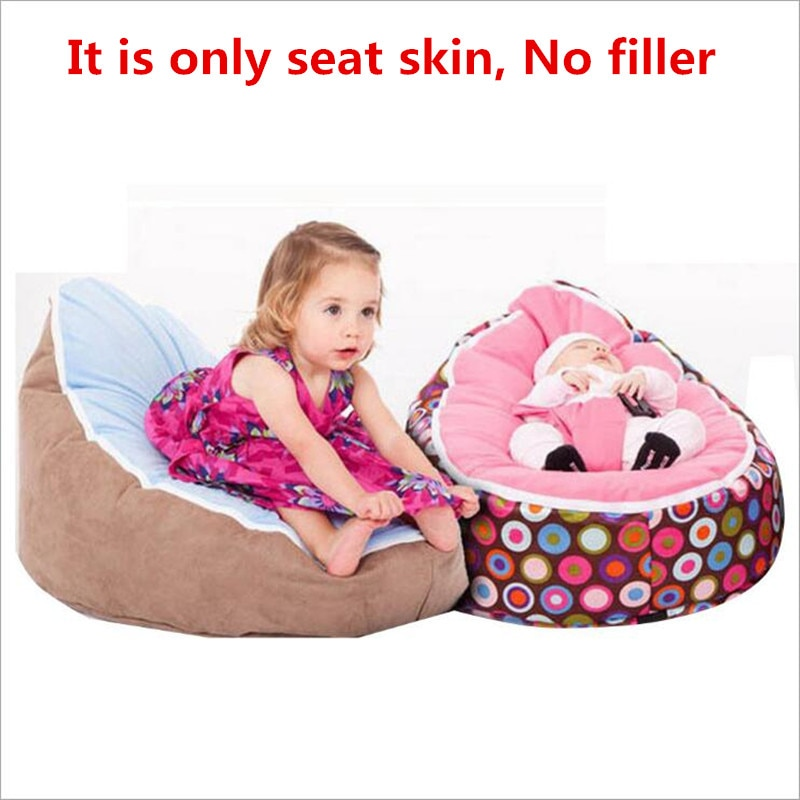 Just a cover! Baby Bean Bag Seat Lazy Couch Beanbag Breastfeeding Bed Feeding Recliner Furniture(No filler)