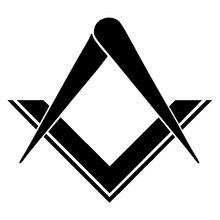 15cm*13.5cm Freemason Masonic Square Compass Stonemasons Stickers Black/Silver S3-5620