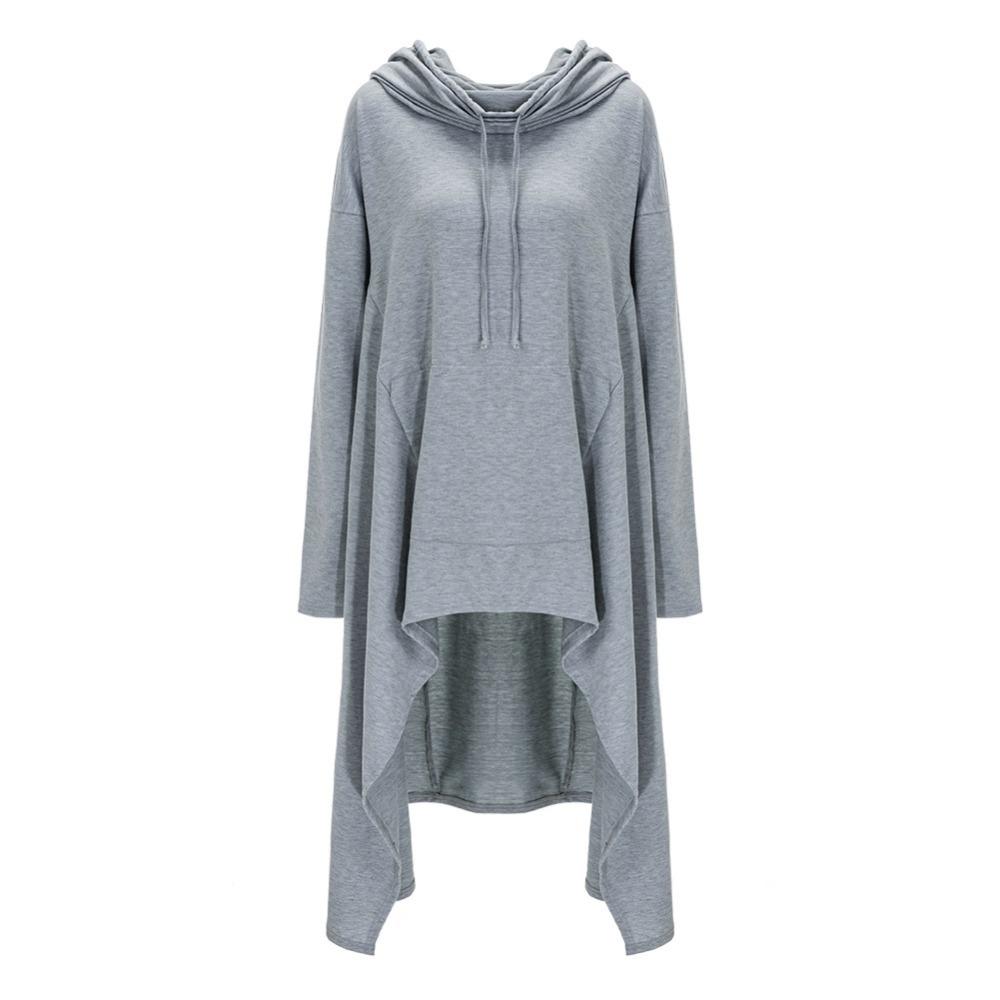 Preself Oversize Sweter Z Kapturem Bluza Kobiety Hoody Blaty Kobiet Luźna Z Długim Rękawem Płaszcz Z Kapturem Na Co Dzień Znosić Pokrywa Swetry Ubrania 19