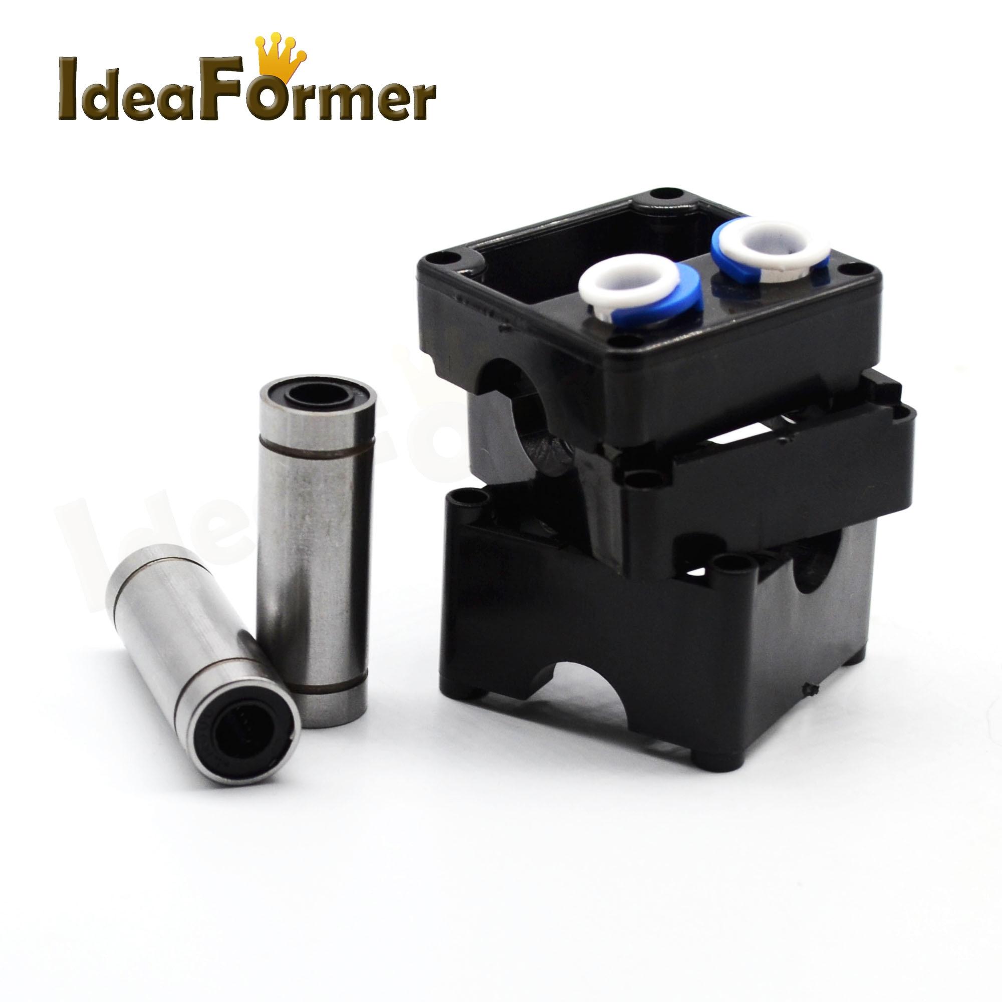 Extrusora UM2, Kit de marco de plástico de extremo caliente, cabezales dobles con cojinete de revestimiento para filamento Olsson de 1,75/3,0mm, kit de piezas de impresora 3D