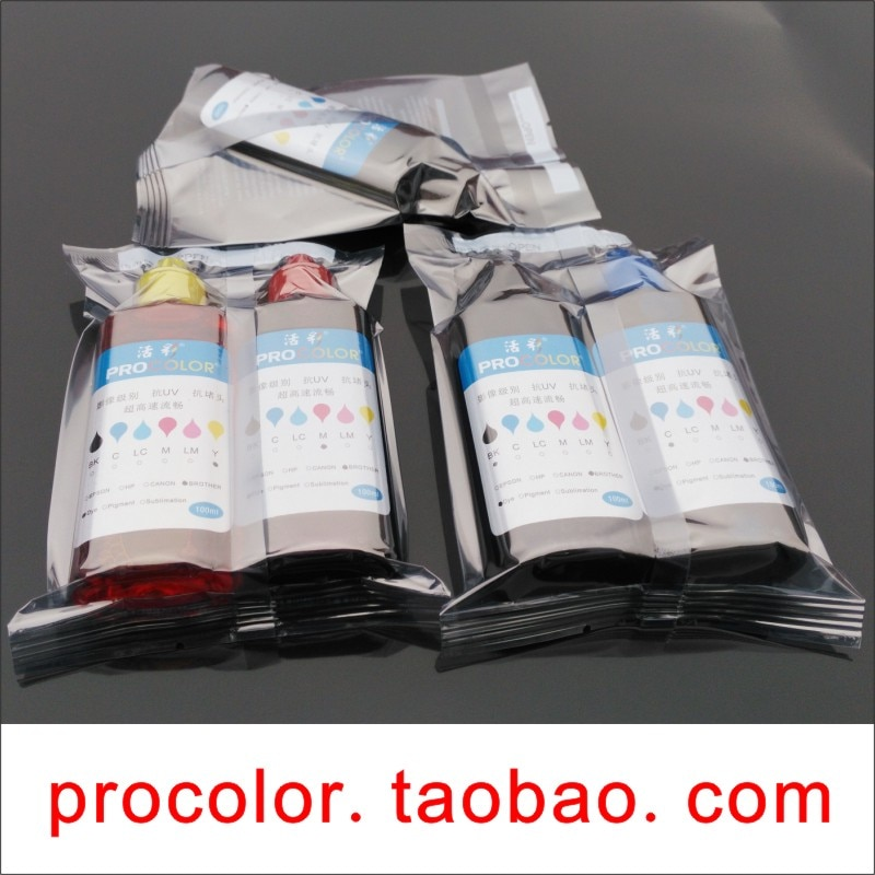 WELCOLOR PGI225XLBK Pigmento de tinta kit de recarga de tinta Corante para Canon PIXMA MG5320 CLI226 MG6110 MG6120 MG6120Refurbished MG6220 impressora