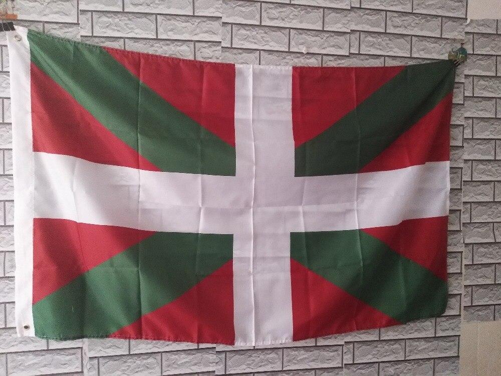KAFNIK, bandera del País Vasco, productos más vendidos, 3X5FT 150X90CM, bandera personalizada, agujeros de metal de latón