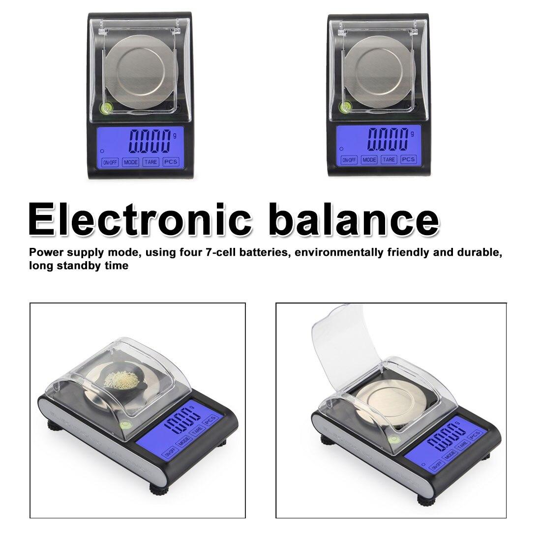 Mini échelle 50g 0.001g précision électronique numérique précision bijoux balances Balance de poche Balance pour or Sterling échelle