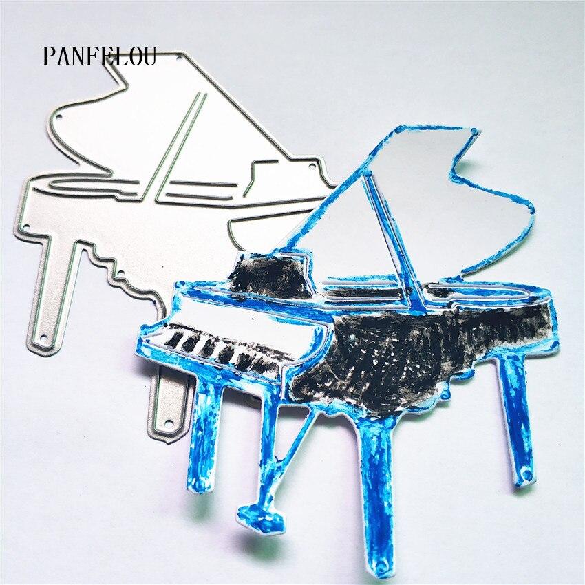 PANFELOU piano musical Scrapbooking DIY tarjetas de álbum de boda de Navidad papel troquelado metal manualidades cortes de punzón troquelado