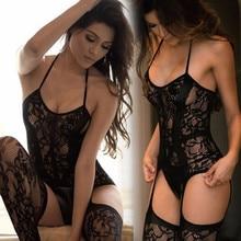 Nouveau femmes Sexy Lingerie ouvert creux bas jarretière collants résille collants transparents bas Long