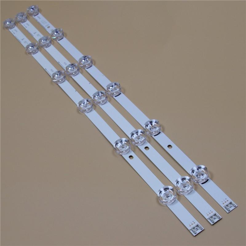 TV LED bares para LG 32LB650V 32LB6200 32LB620V 32LB652V 32LB653V 32LB656V 32LB628V tira de LED para iluminación trasera Kit de 6LED lente 3 bandas
