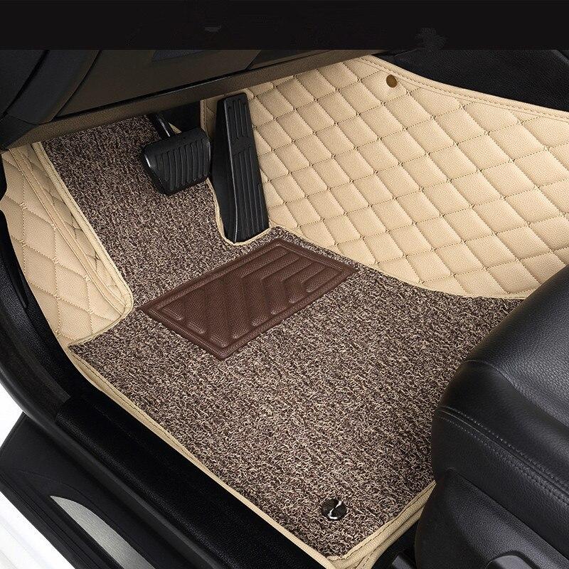 Custom car floor mats for NISSAN All Models Teana Titan Sentra Maxima Qashqai J10 X-Trail T31 accessorie car styling floor mat