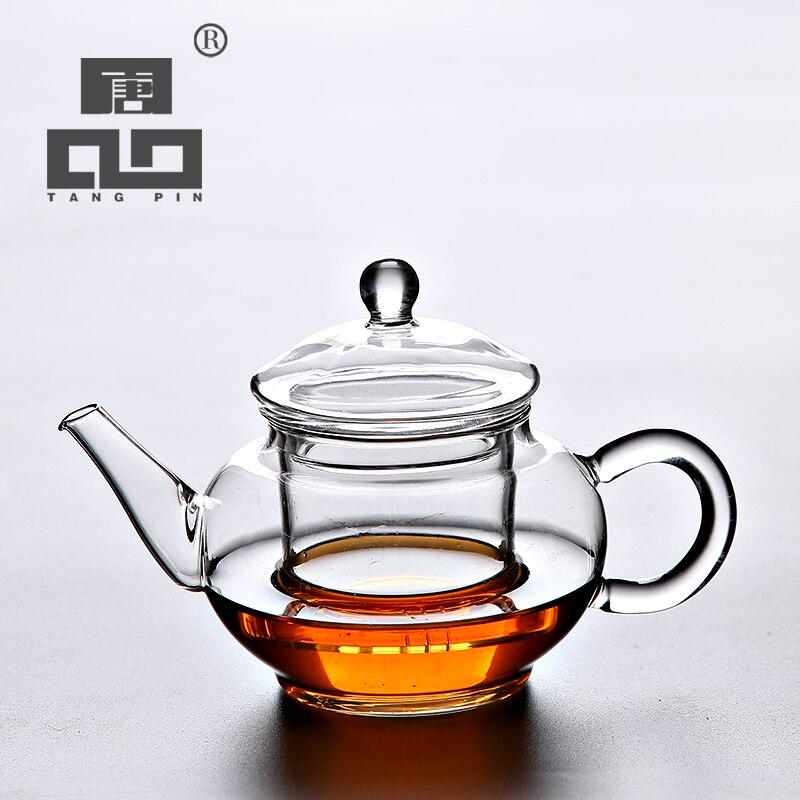Tetera de cristal resistente al calor TANGPIN para juego de té verde