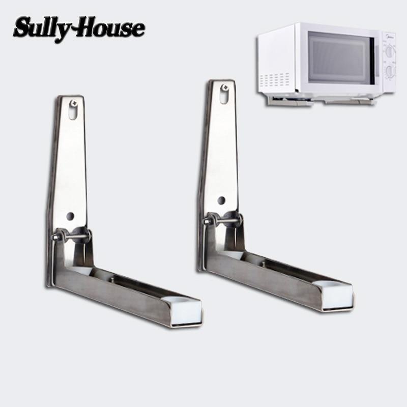 رف متعدد الوظائف من الفولاذ المقاوم للصدأ لفرن الميكروويف ، رف قابل للتعديل ، حامل مزدوج ، للمطبخ ، منزل Sully 304