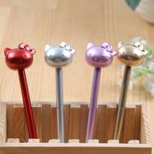 8 piezas de Metal barra KT gato Gel bolígrafo creativo neutral bolígrafos lindo Gel pluma envío gratis