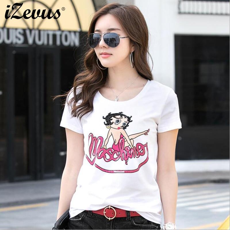 Camisetas BORA con cuentas de estilo caliente, camiseta de manga corta, Camiseta cómoda suave de auto-cultivo para mujeres, Tops de algodón de verano, camisa informal
