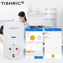 TISHRIC eWeLink 10A 220V Wifi Smart Socket EU Plug Remote Control Smart Outlet Switch Timer Support Alexa/Google Home Automation