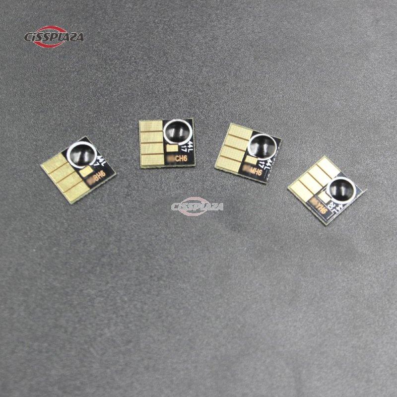 CISSPLAZA 10sets permanente Chip compatible para hp 670 670 xl para hp Deskjet serie 3525, 4615, 4625, 5525, 6525 impresora para ciss