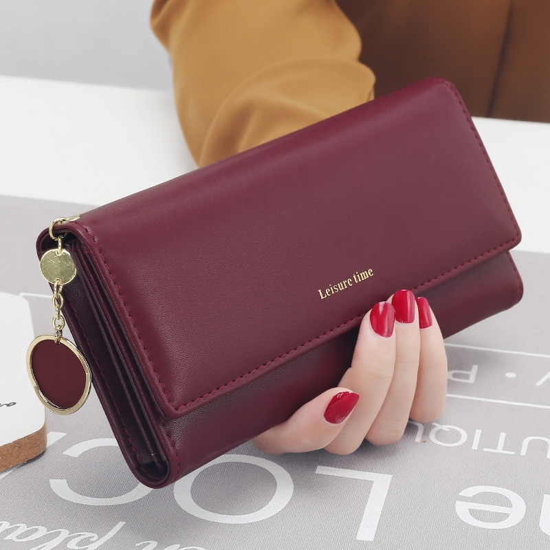 City Light Women Clutch Wallet Women Long Design  New Fashion Personality Pendant Purse Multifunction Wallet Can Put Phone