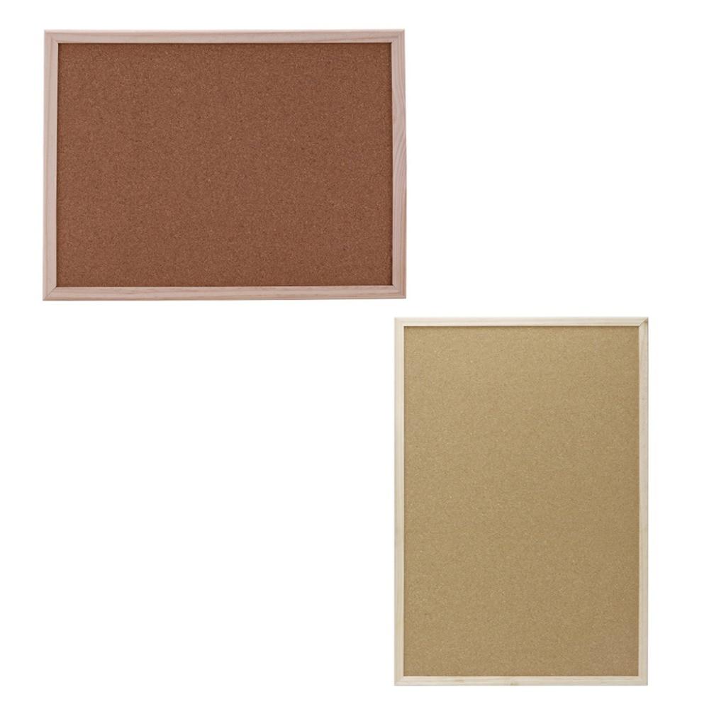 30x40cm/40x60cm Cork Board Drawing Board Pine Wood Frame White Boards Home Office Decorative Cork Frame