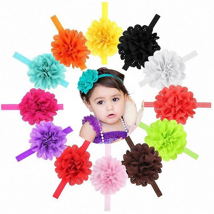 Gorący, mały, dziewczyna szyfonu kwiat z pałąkiem na głowę akcesoria noworodka dziewczyny kwiat łuk dziewczyna opaski z pałąkiem na głowę nakrycia głowy