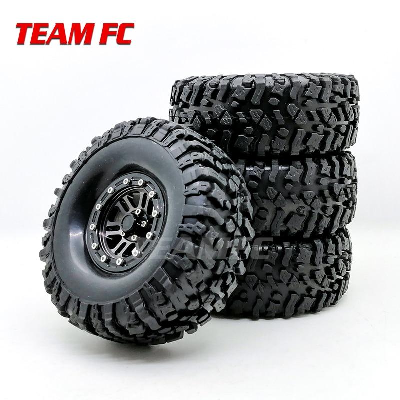 "4PCS 108MM/120mm 1.9 ""Gummi Reifen & Metall Beadlock Rad Felgen für 1:10 RC Rock crawler auto Axial SCX10 90046 TRX-4 S289"
