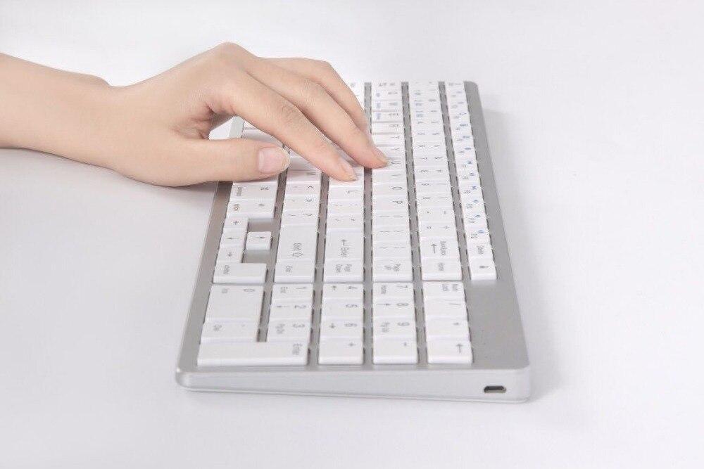 Teclado Bluetooth de aleación de aluminio para ipad pro para macbook air teclado de escritorio teclado inalámbrico Bluetooth para imac air