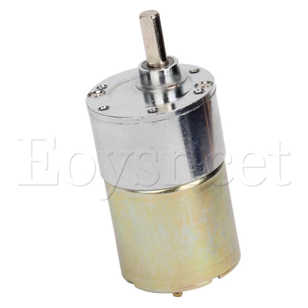 24V 37mm 500RPM 6mm Diameter Shaft High Torque Gear Box Electric Motor