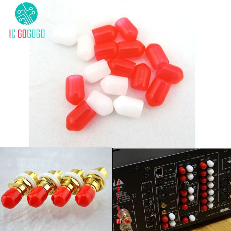 50 шт., защитные колпачки Hi-Fi, RCA, Lotus Audio, AV, разъем для сигнала, защита от пыли, шапка, антиокислительный резиновый чехол, комплекты курток