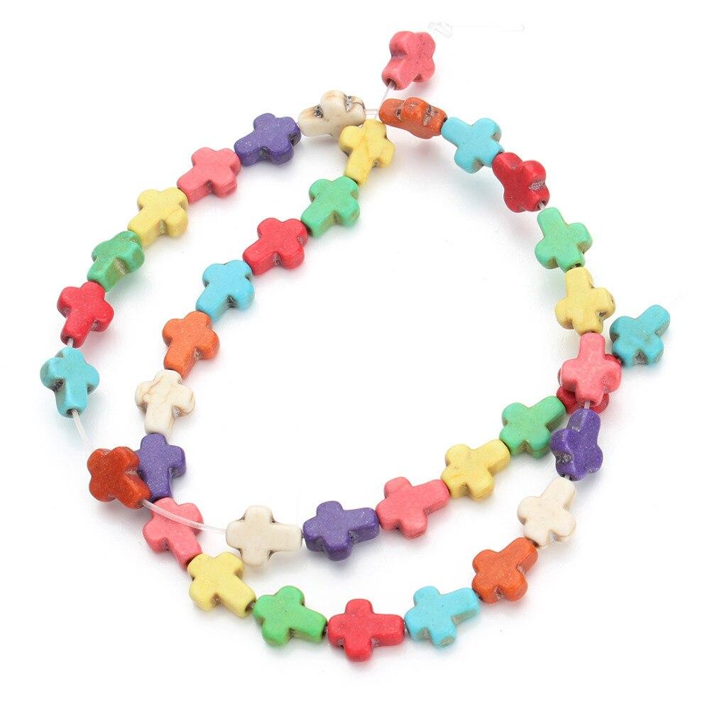 37 Unidades por paquete, 0,8 cm x 1cm x 0,4 cm, espaciador de piedras semipreciosas sueltas cruzadas, abalorios de semillas, collar de joyería DIY F1321