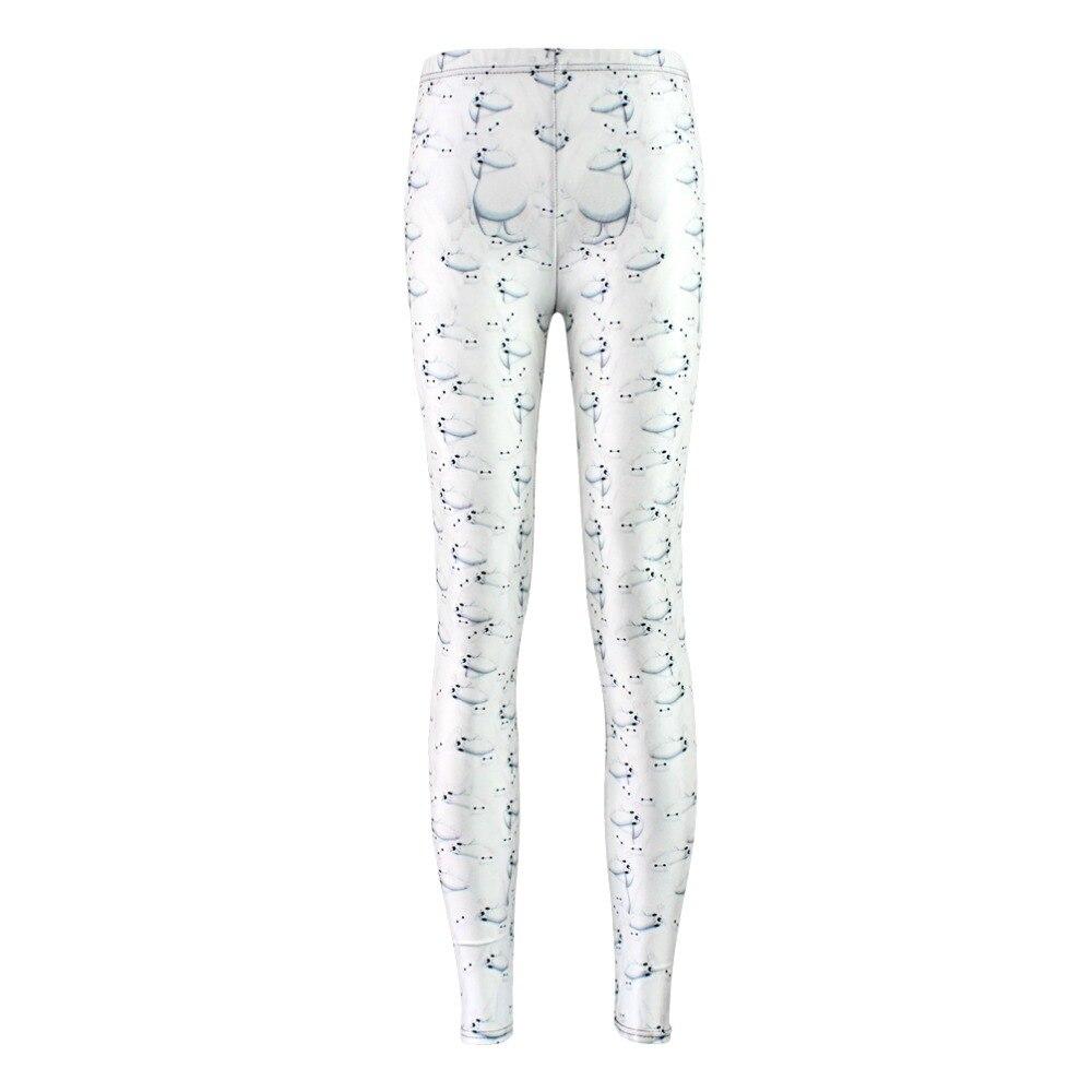 Pantalones casuales elásticos 3D Impresión Digital Super-land al patrón del equipo Leggings de mujer 7 tamaños ropa de Fitness envío gratis
