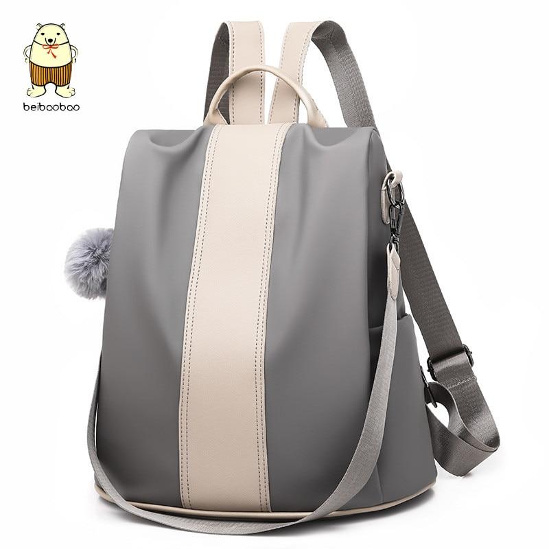Nueva mochila antirrobo Beibaobao de moda informal de PU para mujer, bolso de hombro de viaje de gran capacidad Vintage de alta calidad 2019 para mujer