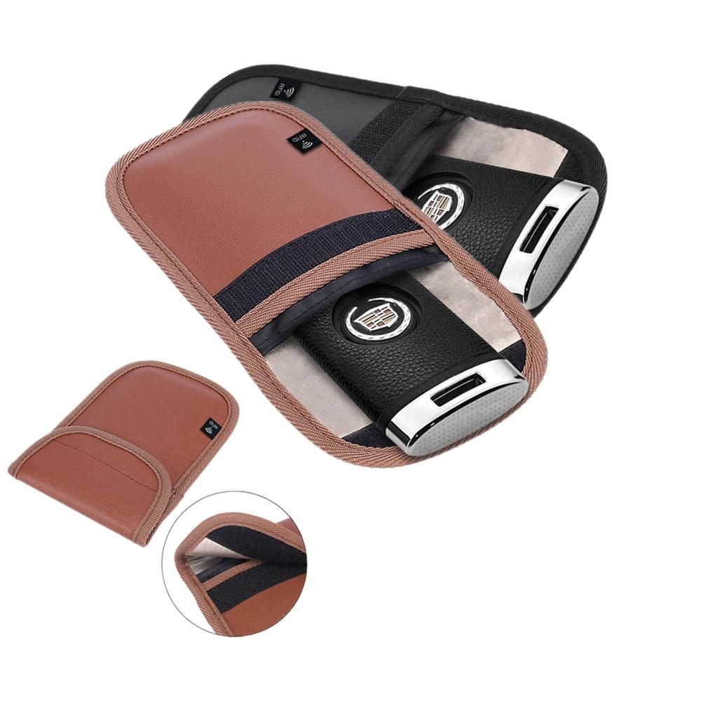 2 piezas Anti-robo señal bloqueando bolsa para jaula de Faraday escudo clave Fob para tarjetas de crédito RFID protector para relojes inteligentes