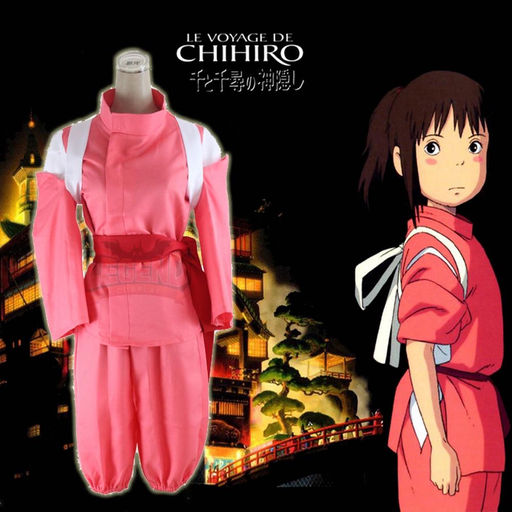 Cosplay legend Spirited Away Ogino Chihiro Cosplay adult costume 2017  full set in stock