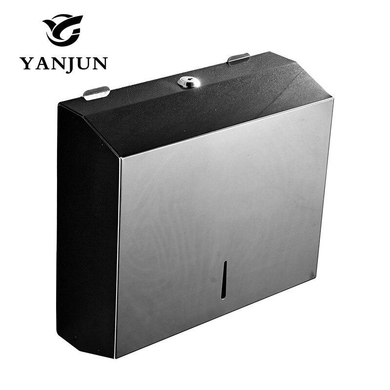Yanjun Wand Montiert Edelstahl Wc Papier Halter WC Papier Handtuch Halter Tissue Dispenser Bad Zubehör YJ-8808