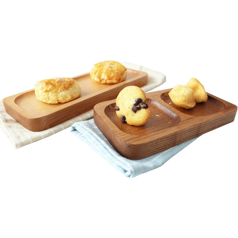 Japan Style Wood Desserts Plate Eco Natural Creative Fruits Cutting Boards No Paint Food Serving Trays Sushi Plates Tableware