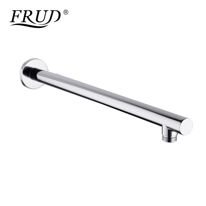 Frud materiales de cobre moderno brazo para ducha cabeza oculta montado en la pared tubo fijo ducha soporte cilindro carril de ducha Y81020