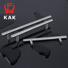 "KAK 4"" ~ 24'' Stainless Steel Handles Diameter 10mm Kitchen Door Cabinet T Bar Straight Handle Pull Knobs Furniture Hardware"