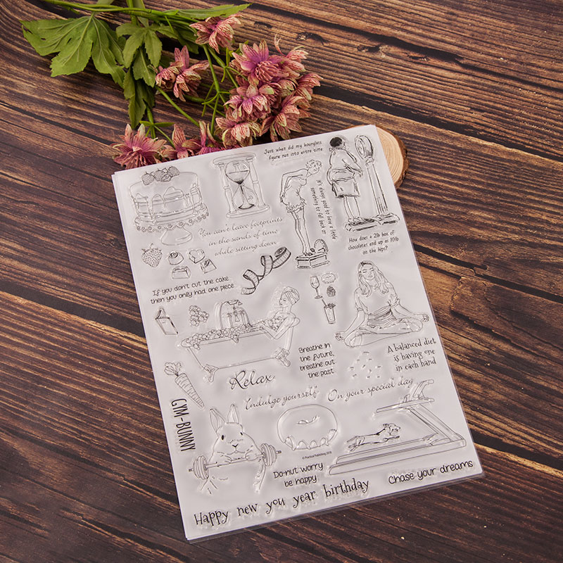 Yoga claro sello/sello DIY scrapbooking/foto álbum decorativo claro sello hojas A1990