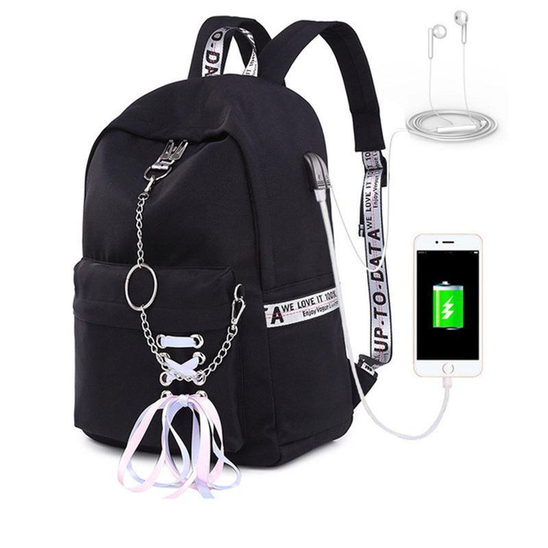 Cute college school bags for teenage girls travel backpack women shoulder bag casual bookbag student