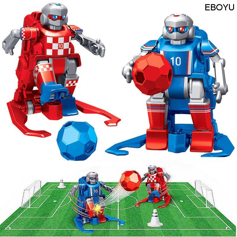 2 pces * eboyu jt8811/jt8911 2.4 ghz rc robô de futebol brinquedo controle remoto sem fio dois robôs de futebol jogo brinquedos para crianças família