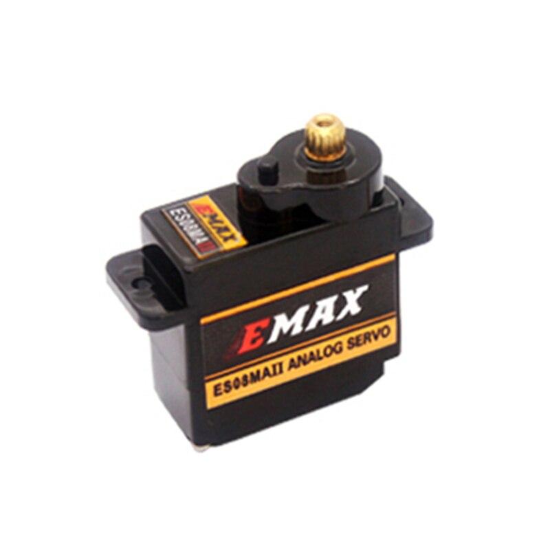 1 Uds EMAX ES08MA II Mini Metal Gear Servo analógico de 12g/2,0 kg/0,12 segundo Mg90S para RC coche camión oruga Servo