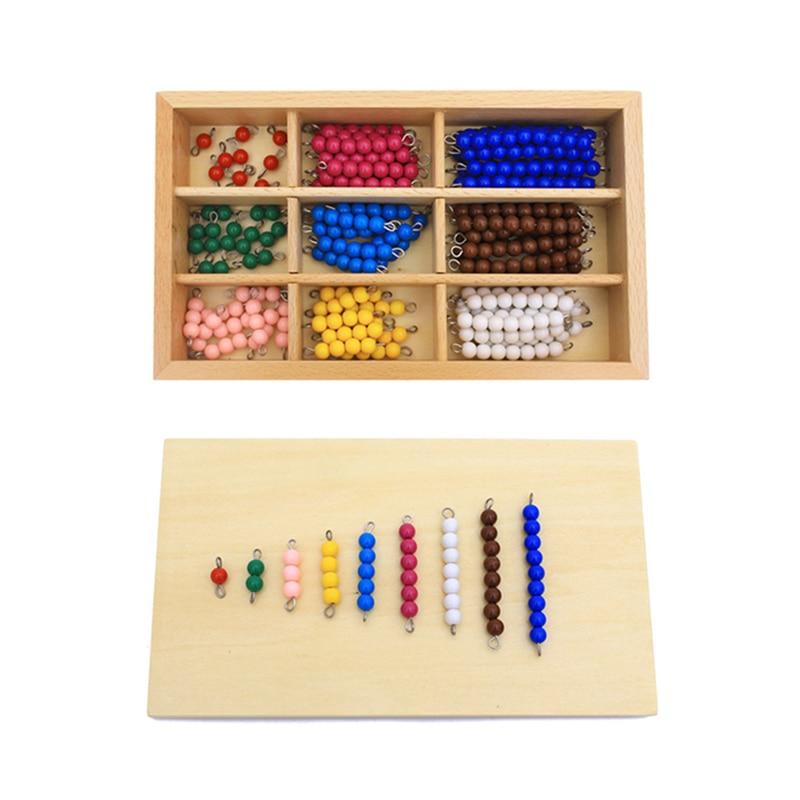 مواد مونتيسوري التعليمية الخشبية للأطفال ، لعبة لوحة المدقق الملونة ، خرز الرياضيات ، ألعاب الطفولة المبكرة ، تدريب ما قبل المدرسة