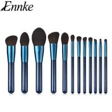 Scrub Blue Makeup Brush Set 12pcs High Rod Brush Eyeshadow Foundation Brush Combination Makeup Tool