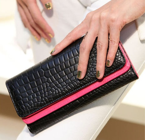 HOT SALE !Free Shipping !2012 NEW fashion lady wallet women wallets.black with PU leather 1 pce wholesale TM HXXP39|wallet italy|wallet and money