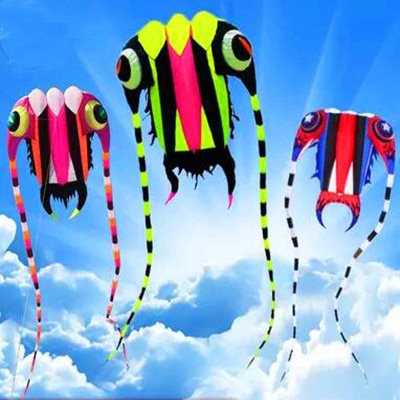free shipping high quality 3square meters trilobites kite with line ripstop kite factory large kite reel soft octopus kite show недорого